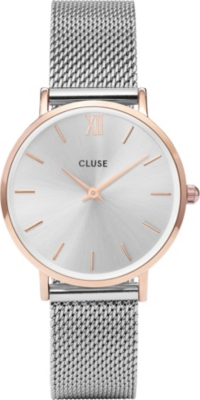 CLUSE CL30025 Minuit stainless steel mesh watch