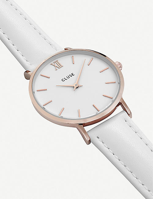 CLUSE Minuit rose gold-toned watch