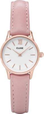 CLUSE CL50010 La Vedette stainless steel and leather watch