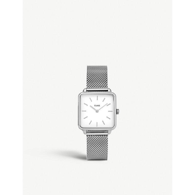 CLUSE Cl60001 La Garçonne Stainless Steel Mesh Watch in Silver