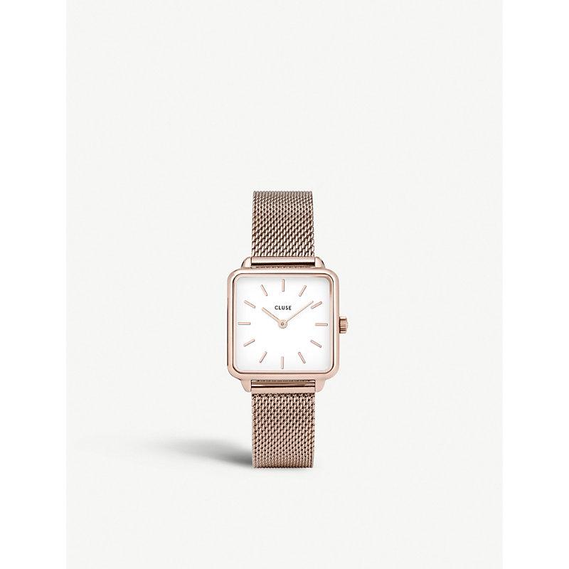 CLUSE Cl60003 La Garçonne Rose Gold-Plated Mesh Watch