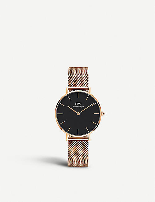 DANIEL WELLINGTON: Classic Petite Melrose rose gold-plated watch