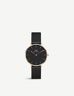 DANIEL WELLINGTON DW00100201 Classic Petite Ashfield rose gold-plated watch