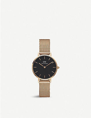 DANIEL WELLINGTON: Petite Melrose rose gold-plated watch 28mm