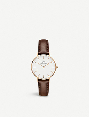 DANIEL WELLINGTON Classic Petite St Mawes rose gold-plated watch 28mm