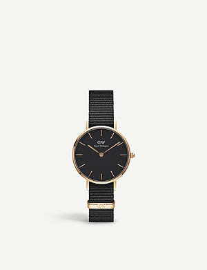 DANIEL WELLINGTON Petite Cornwall rose gold-plated watch 28mm