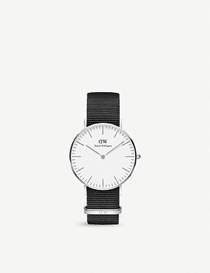DANIEL WELLINGTON Classic Cornwall stainless steel watch 36mm