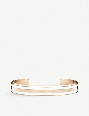 DANIEL WELLINGTON Classic rose gold-plated stainless steel and enamel bracelet