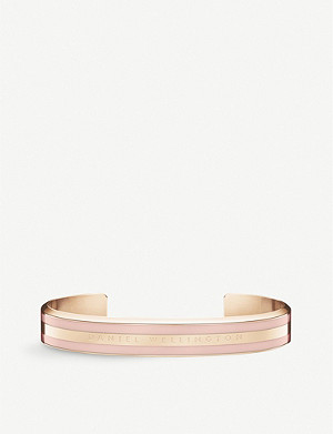 DANIEL WELLINGTON Classic Cuff rose-gold plated stainless steel bracelet medium