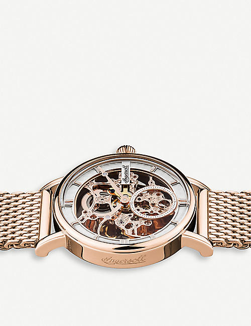 INGERSOLL I00406 The Herald automatic rose gold-plated stainless steel chronograph watch