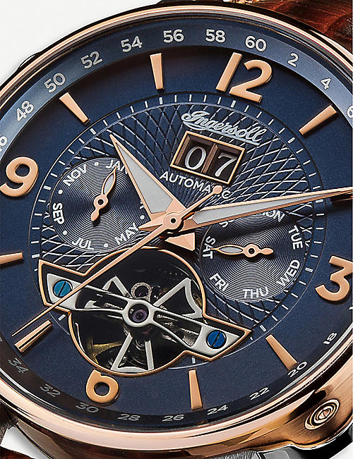 INGERSOLL I00703 Grafton rose-gold, silver and stainless-steel automatic watch