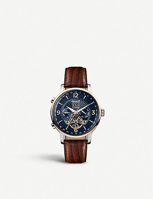 INGERSOLL: I00703 Grafton rose-gold, silver and stainless-steel automatic watch