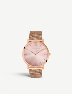 LARSSON & JENNINGS Lugano Solaris rose gold-plated stainless steel watch