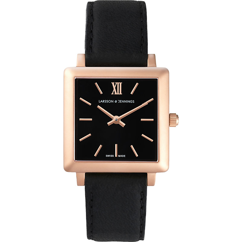 LARSSON & JENNINGS | LJ-W-NRS-RG34-O Norse Rose Gold-Plated And Leather Watch | Goxip
