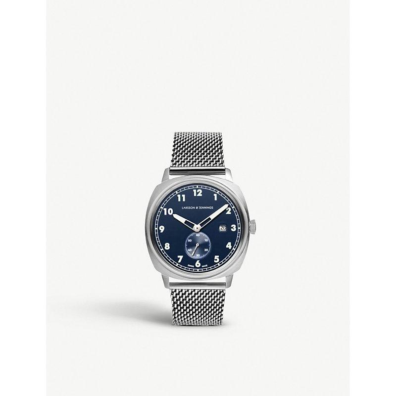 LARSSON & JENNINGS | ME38-CMSLV-HSA-Q-B-SN-O Meridian Stainless Steel Watch | Goxip