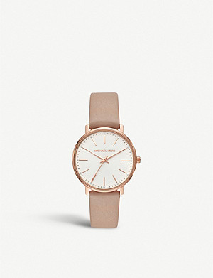 MICHAEL KORS MK2748 Pyper rose-gold stainless steel and leather watch