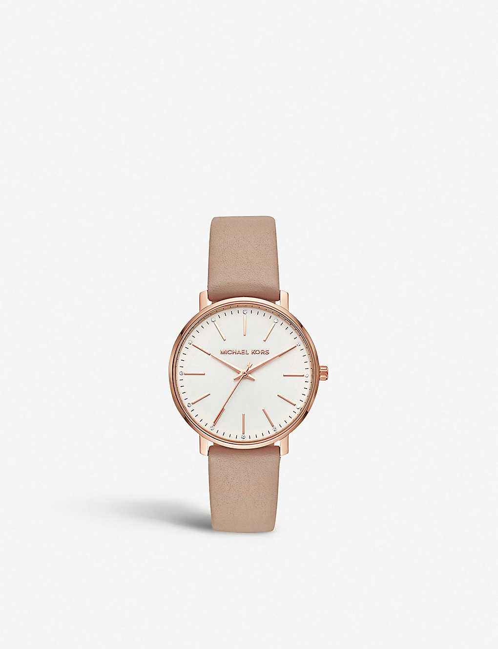 f917acca0da3 MICHAEL KORS - MK2748 Pyper rose-gold stainless steel and leather ...