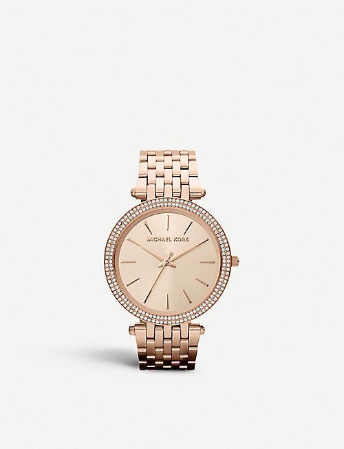 1f9be05b7d6e MICHAEL KORS MK3192 Darci rose gold-toned stainless steel watch