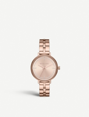 f1cbc8cab04c3 MICHAEL KORS - MK3793 Bridgette rose gold-toned stainless steel and crystal  quartz watch