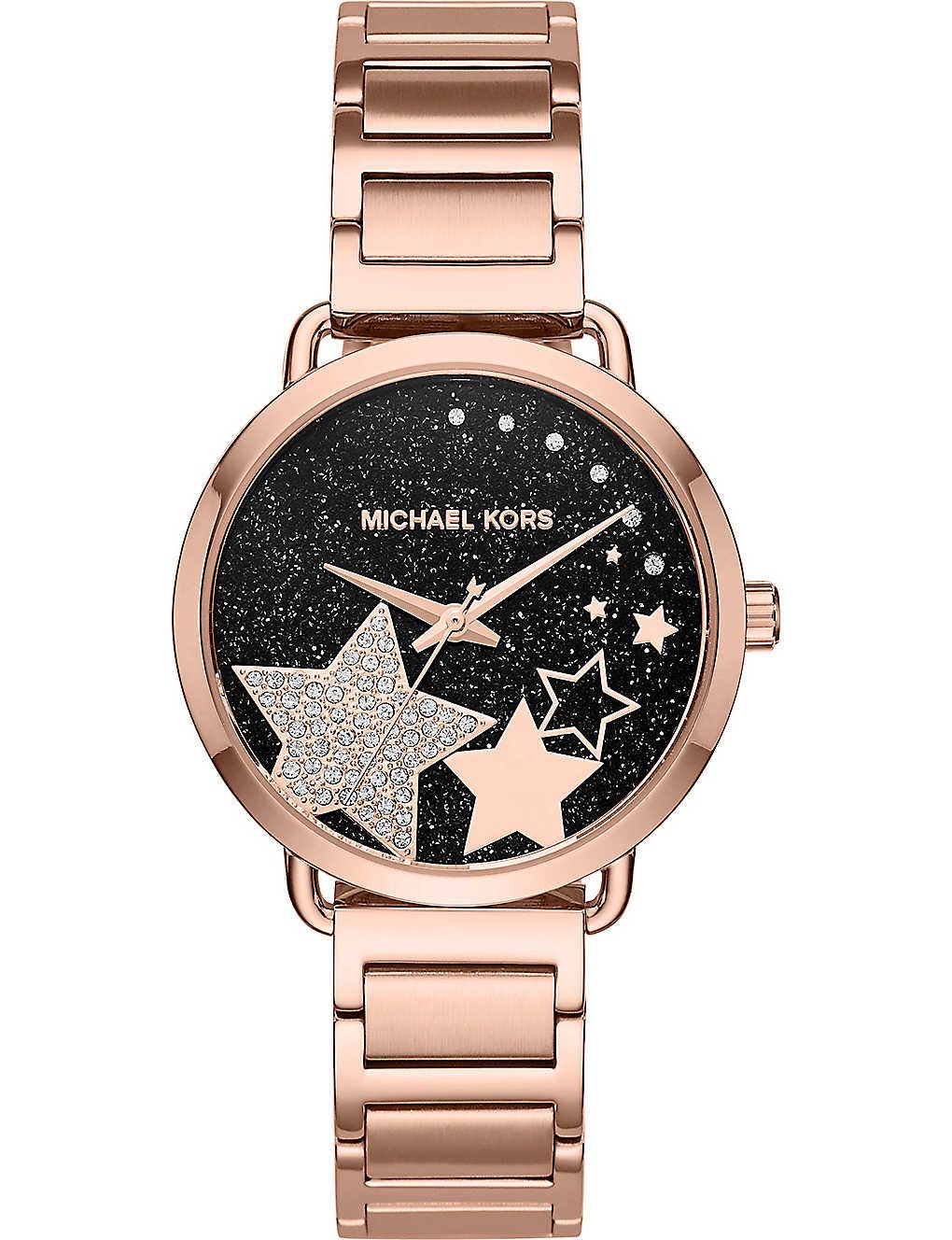 ac6d2efe3474 MICHAEL KORS - MK3795 Portia rose-gold stainless steel quartz watch ...