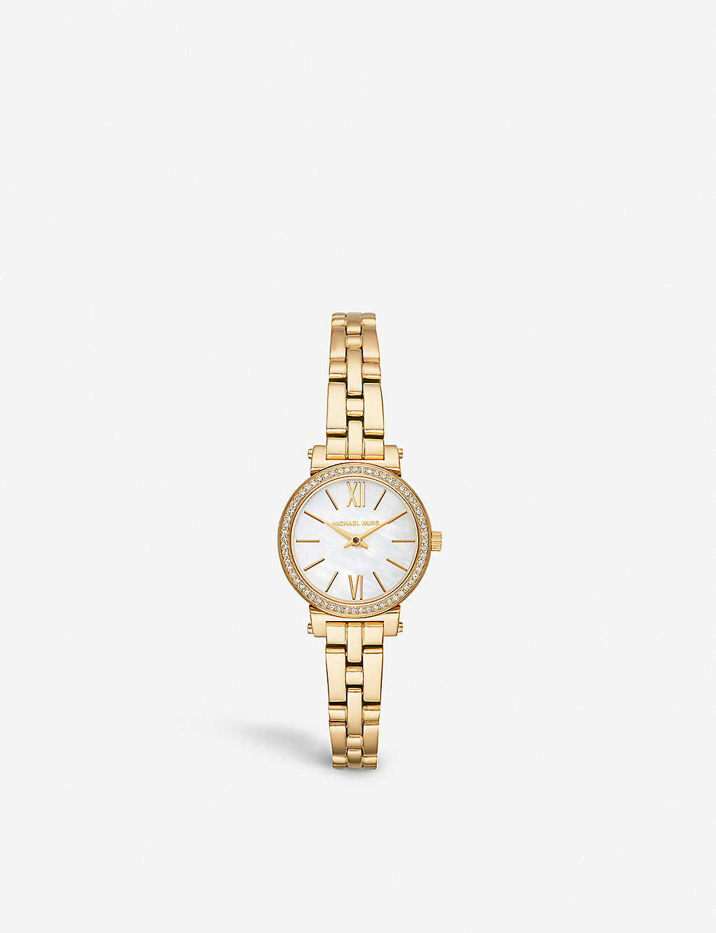 6839d369f2ac MICHAEL KORS - MK3833 Sofie yellow gold-toned stainless steel watch ...
