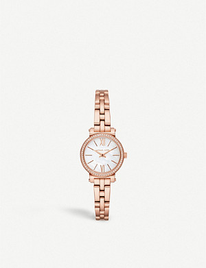 MICHAEL KORS MK3834 Sofie rose gold-toned stainless steel watch