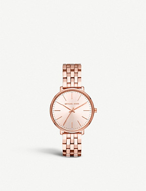 MICHAEL KORS MK3897 Pyper rose-gold toned stainless steel watch