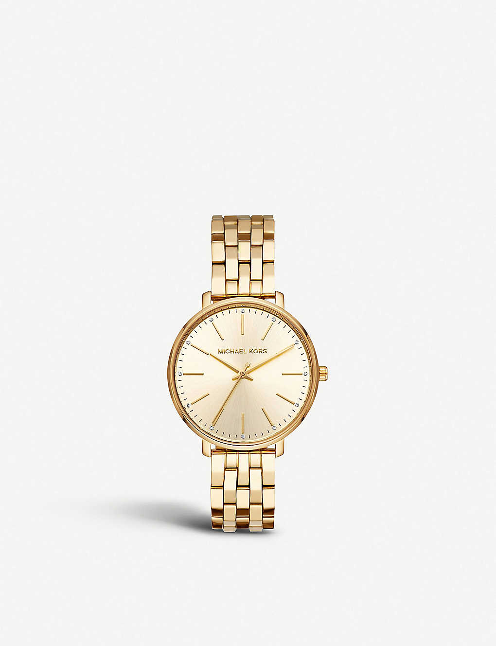 6d6bbc7178091 MICHAEL KORS - MK3898 Pyper gold-plated stainless steel watch ...