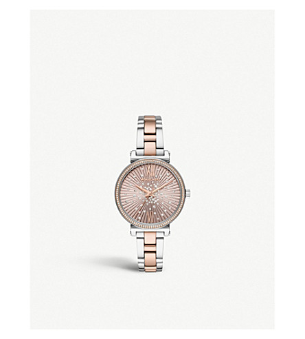 026961580 MICHAEL KORS MK3972 Sofie rose gold-tone, stainless steel and crystal watch
