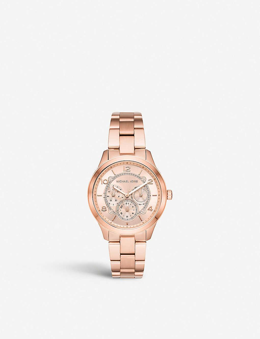 bb83b7b5eb28 MICHAEL KORS - MK3983 Jet Set rose-gold stainless steel chronograph ...