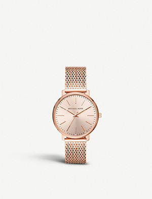 MICHAEL KORS MK4340 Pyper rose-gold toned stainless steel watch