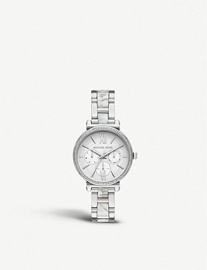 MICHAEL KORS MK4345 Sofie stainless steel chronograph watch