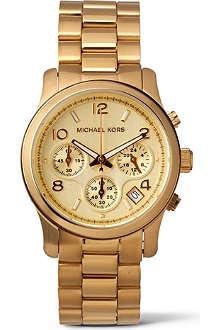 68730442e47a Michael Kors Gold Mk5055 Chronograph Women Watch Tradesy