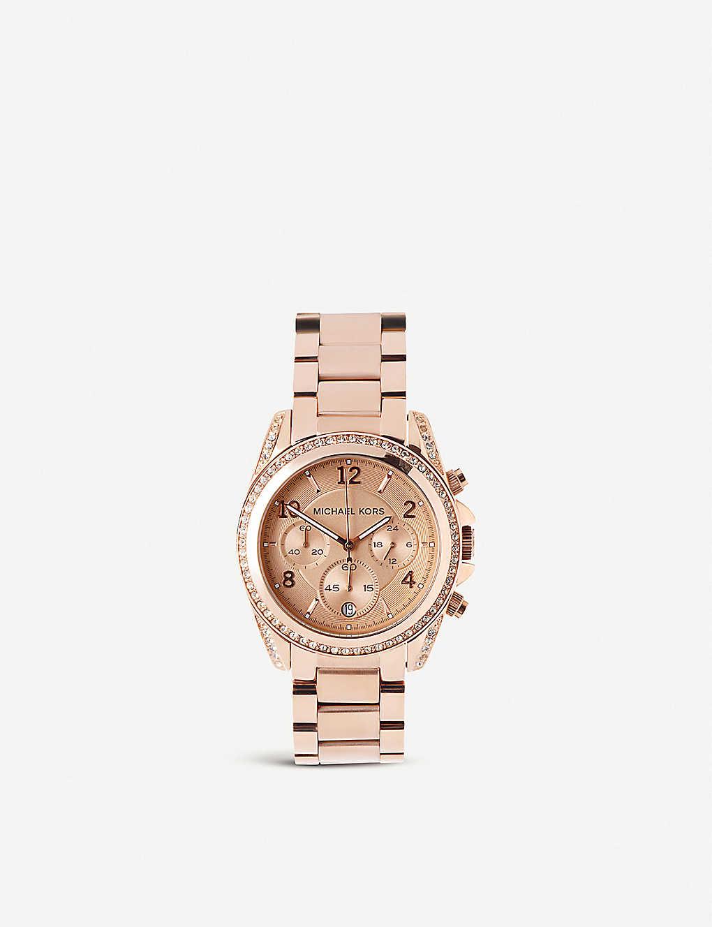 b6955962bba9 MICHAEL KORS - MK5263 Blair rose gold-plated watch