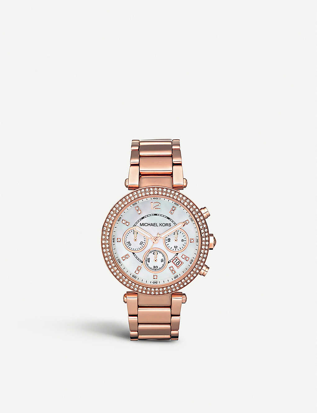 a03664583f62 MK5491 Parker rose gold-plated watch - Mother of pearl ...