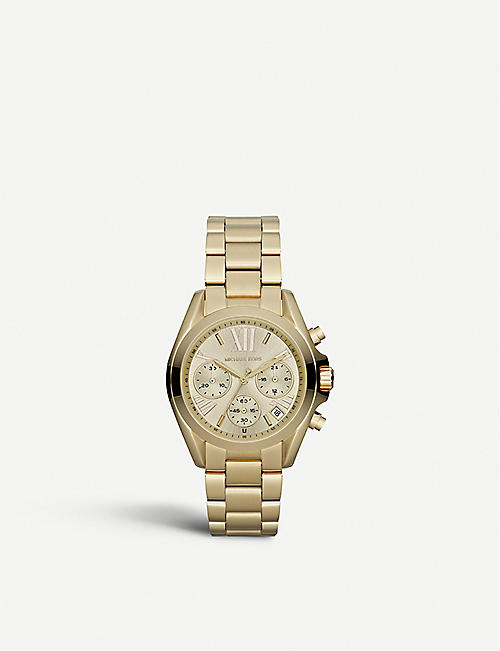 MICHAEL KORS: MK5798 Mini Bradshaw gold-plated watch