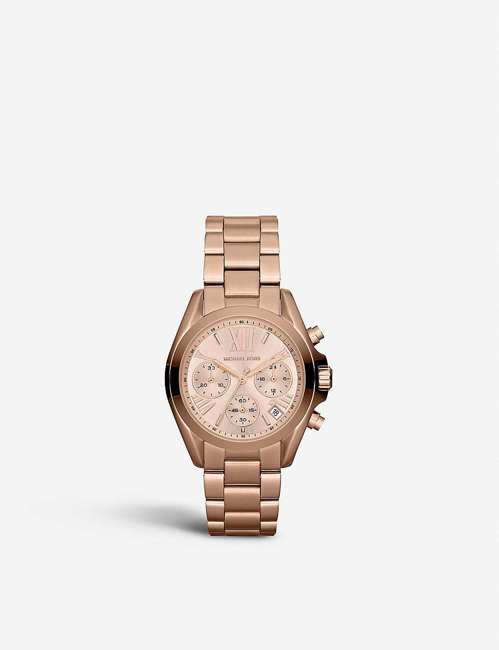 3ebdfd22a89c MICHAEL KORS - MK5799 Mini Bradshaw rose gold-plated watch ...