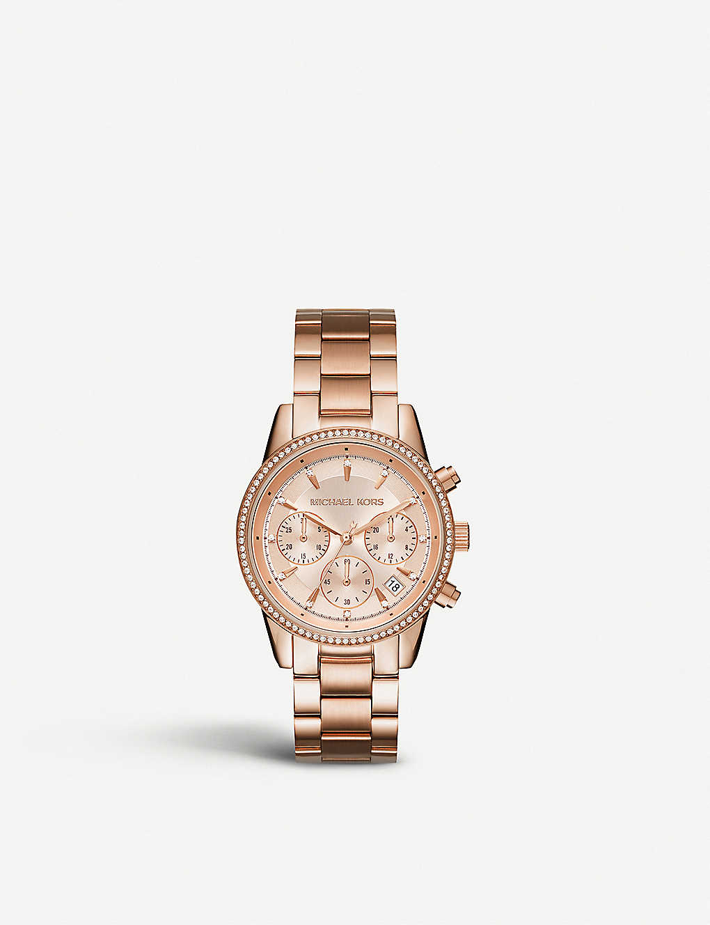 37175ab576b5 MICHAEL KORS - MK6357 Ritz crystal-encrusted stainless steel watch ...