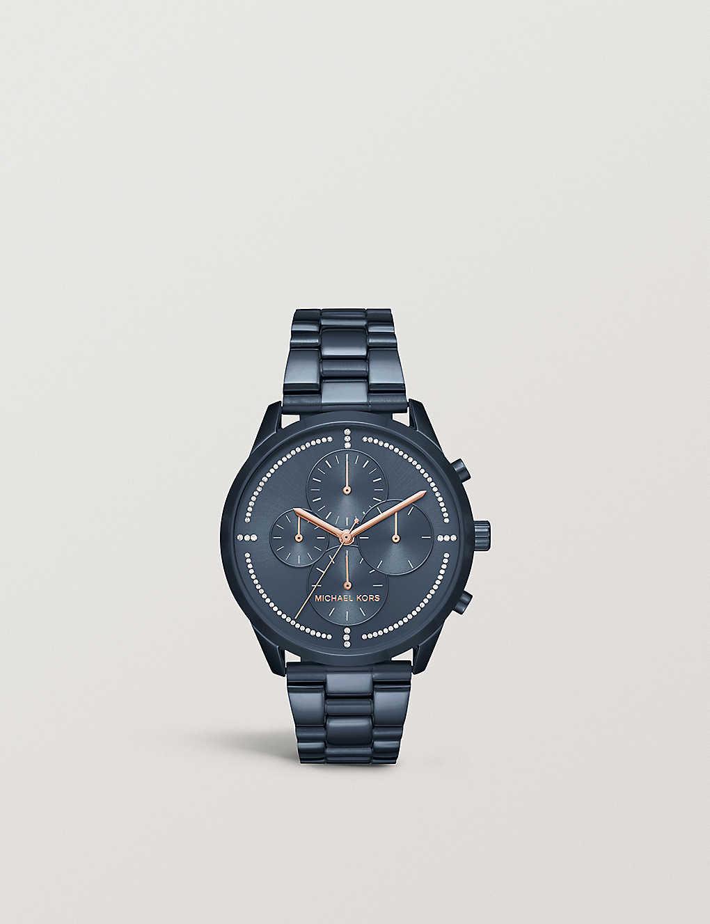 e8eca1cc799b MICHAEL KORS - MK6522 Slater blue stainless steel bracelet chronograph watch