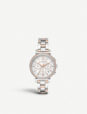 MICHAEL KORS MK6558 Sofie two-tone stainless steel chronograph watch