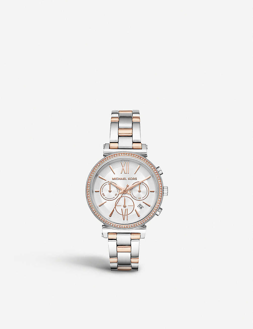 3f08b0003 MICHAEL KORS - MK6558 Sofie two-tone stainless steel chronograph ...