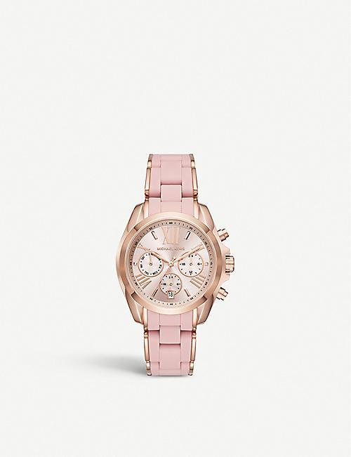 755c1e8cb36b MICHAEL KORS MK6579 Bradshaw rose gold-toned stainless steel chronograph  watch