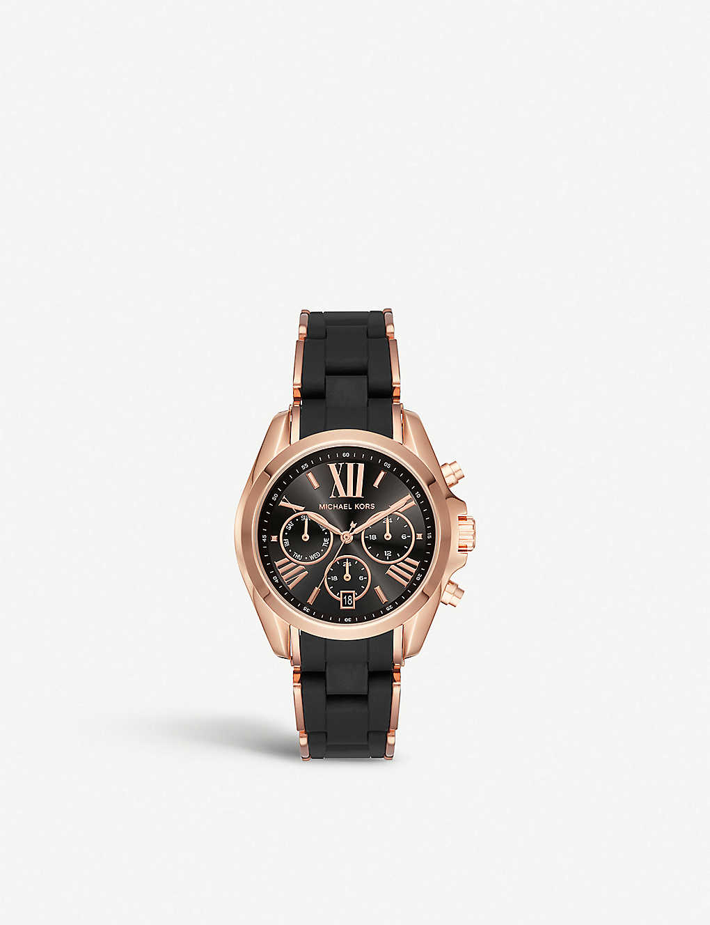 b942cb84cd62 MK6580 Bradshaw rose gold-toned stainless steel chronograph watch ...