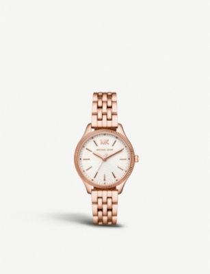 MICHAEL KORS MK6641 Lexington rose-gold plated stainless steel watch