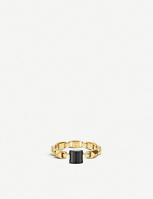 MICHAEL KORS Mercer Link yellow-gold plated silver ring