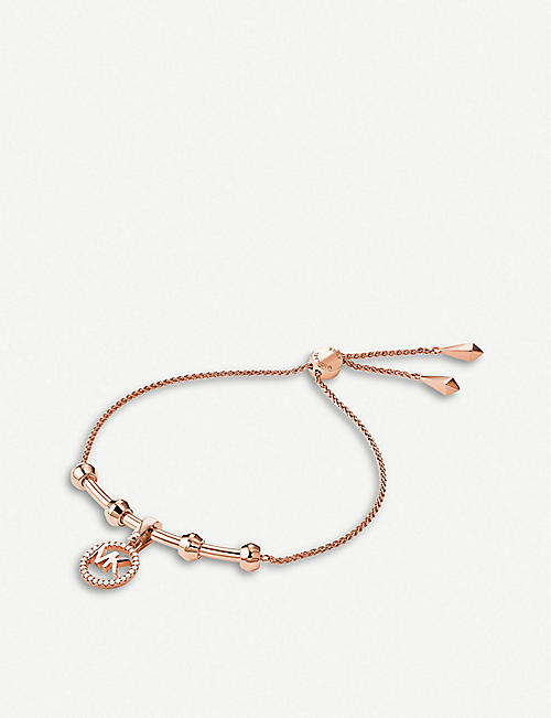 MICHAEL KORS: Custom Kors monogrammed rose gold-plated bracelet