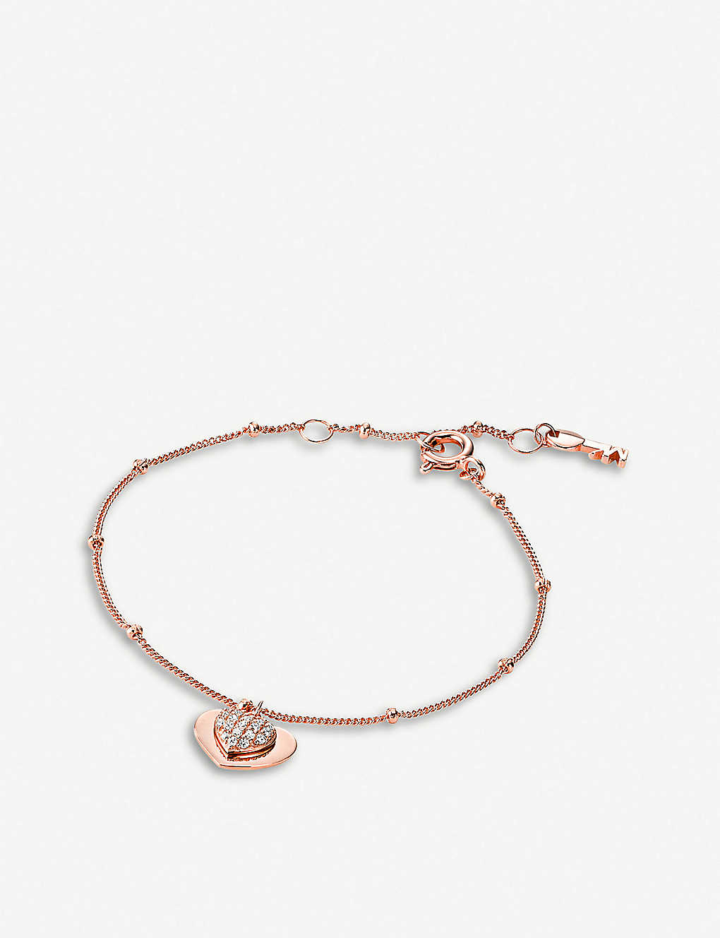 fbf3f48aaa2683 MICHAEL KORS - Love rose gold-toned sterling silver charm bracelet ...
