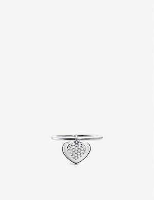 MICHAEL KORS Love heart sterling silver ring