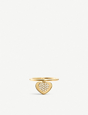 MICHAEL KORS Love heart yellow gold-plated sterling silver ring