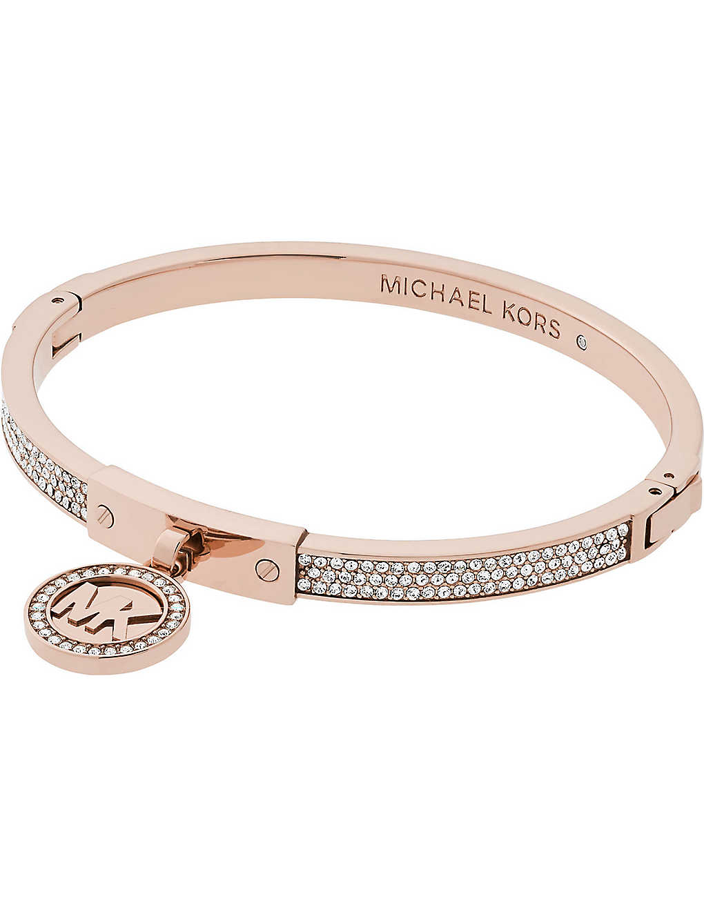 f69c73924cab MICHAEL KORS - Fulton rose-gold and pavé hinge bangle bracelet ...